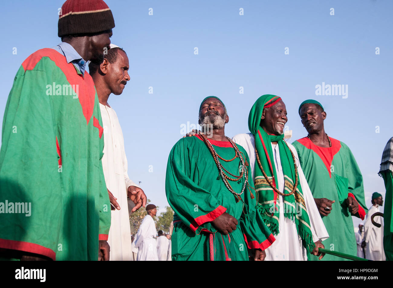 SUDAN, OMDURMAN: Every Friday the sufis of Omdurman, the other half of Northern Sudan's capital Khartoum, gather - Stock Image