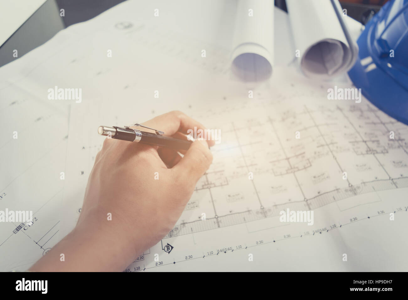Engineering diagram blueprint paper drafting project sketch stock engineering diagram blueprint paper drafting project sketch architectural selective focus malvernweather Image collections