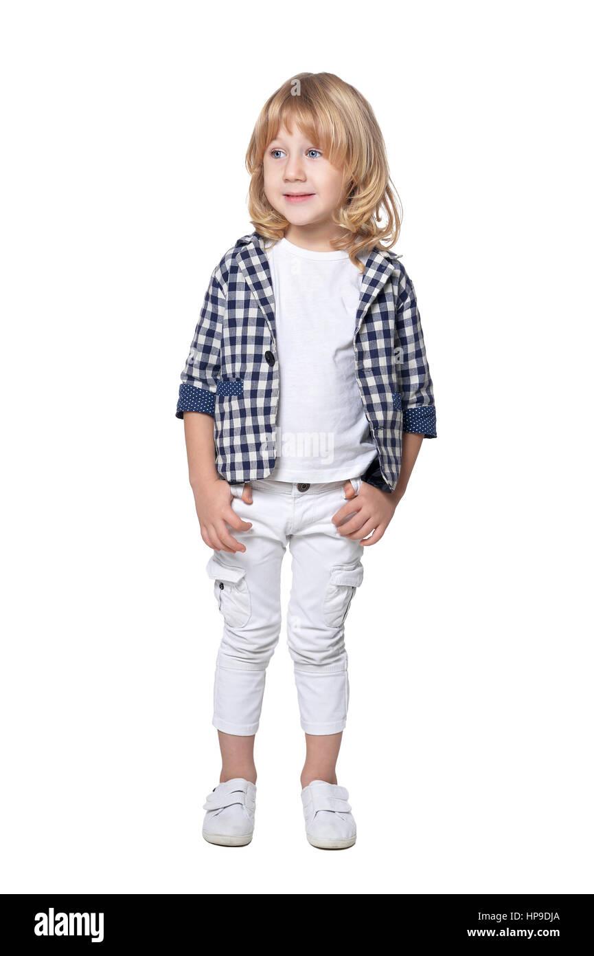 cute little fashionable boy - Stock Image