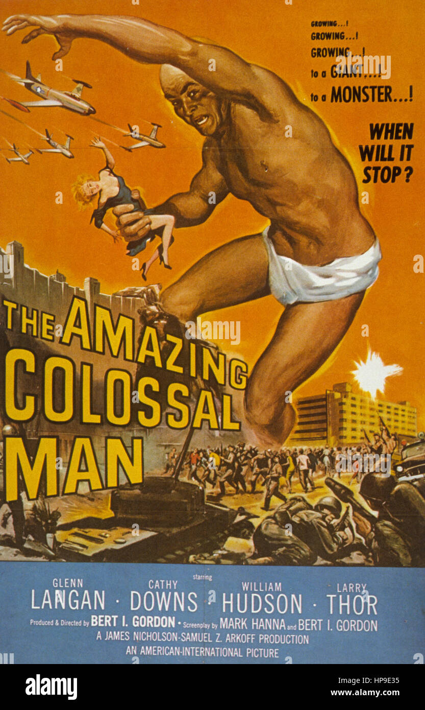 the amazing colossal man,1957 - Stock Image