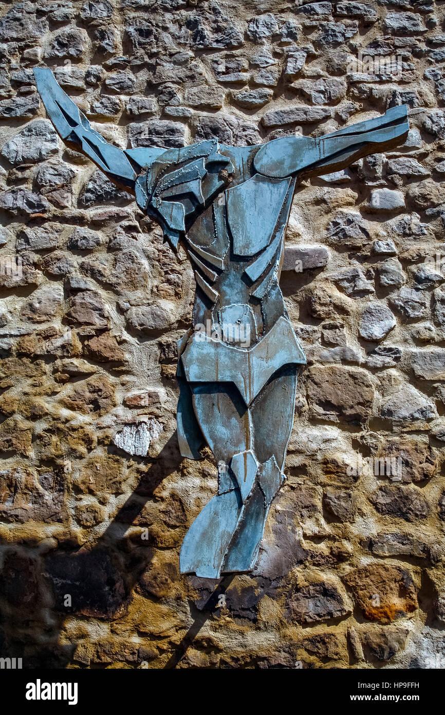 Italy Emilia Romagna Marzabotto:  Caprara di Sopra: Cross Stock Photo