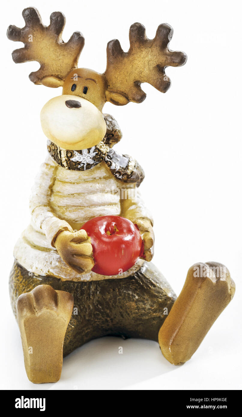 Sitzende Elchfigur - Stock Image