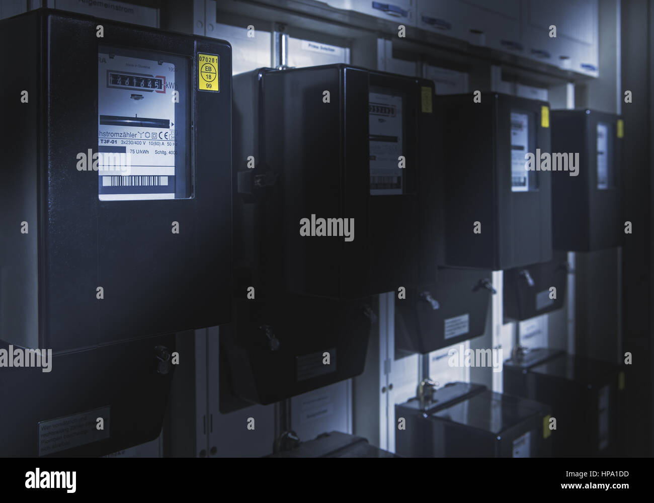 Stromzaehler - Stock Image
