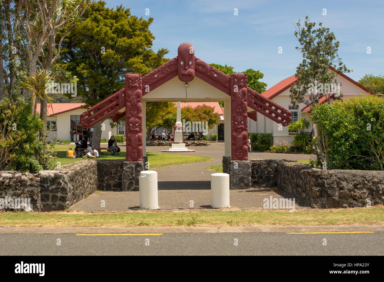 Waitangi Marae New Zealand Stock Photo