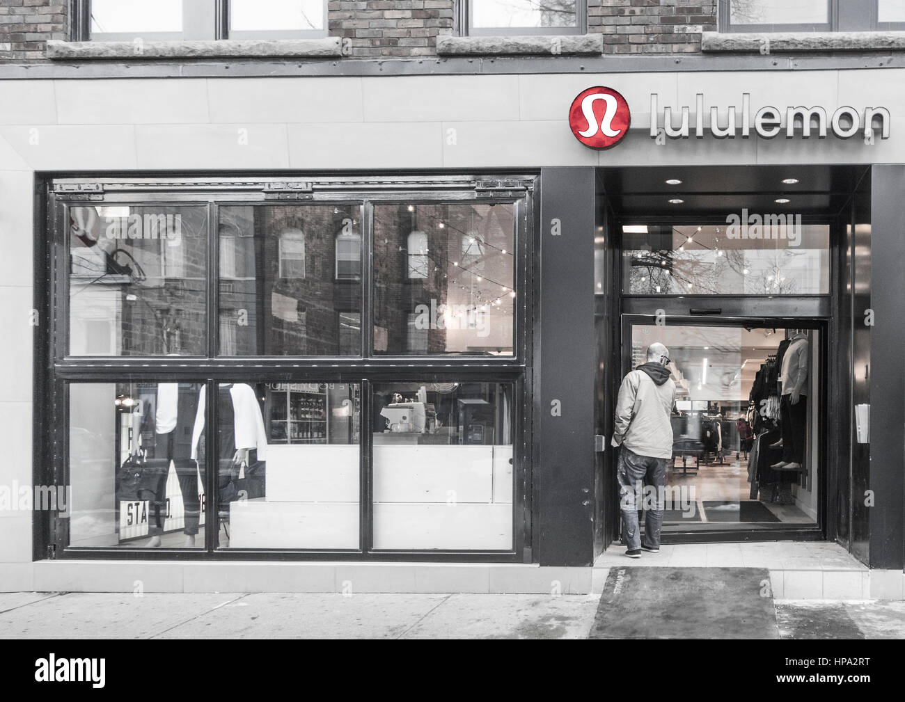 8f216f1b49 Lululemon store on Queen Street in Toronto Ontario Canada. Specializing in women's  clothes and fashion