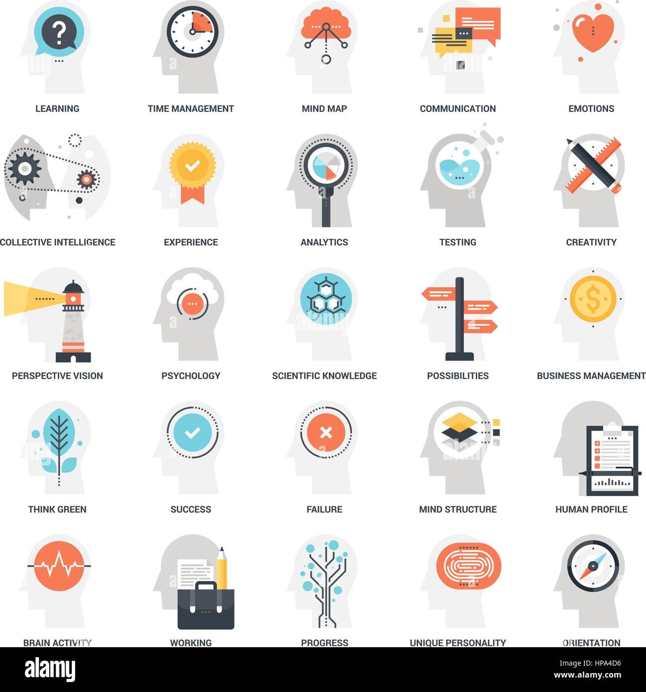 Thinking and Brain Activity - Stock Image