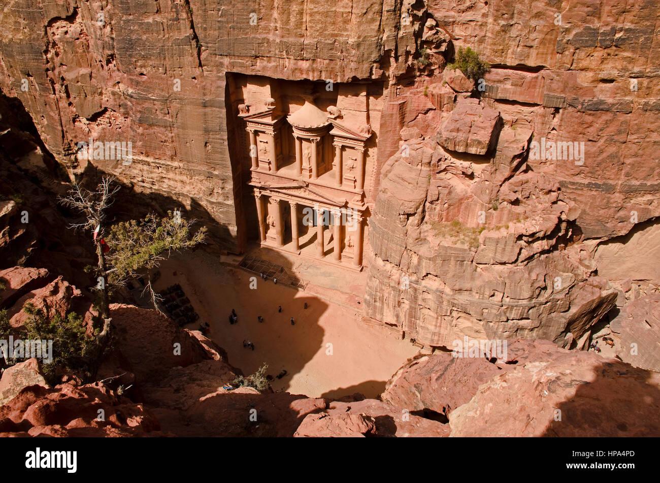 The Treasury at Petra - Stock Image