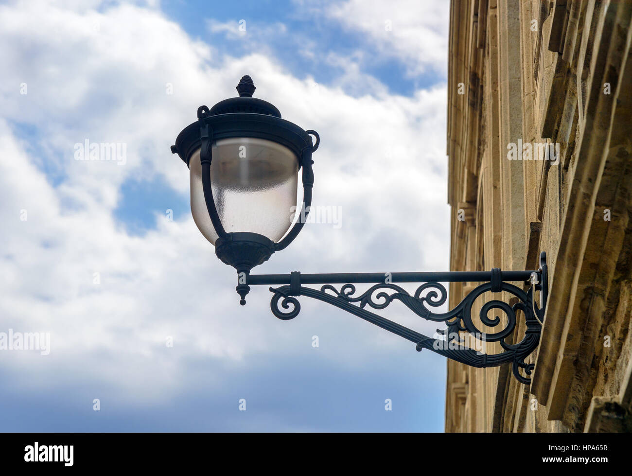 Old lamp on street in Old city, Icheri Sheher. Baku, Azerbaijan. Stock Photo