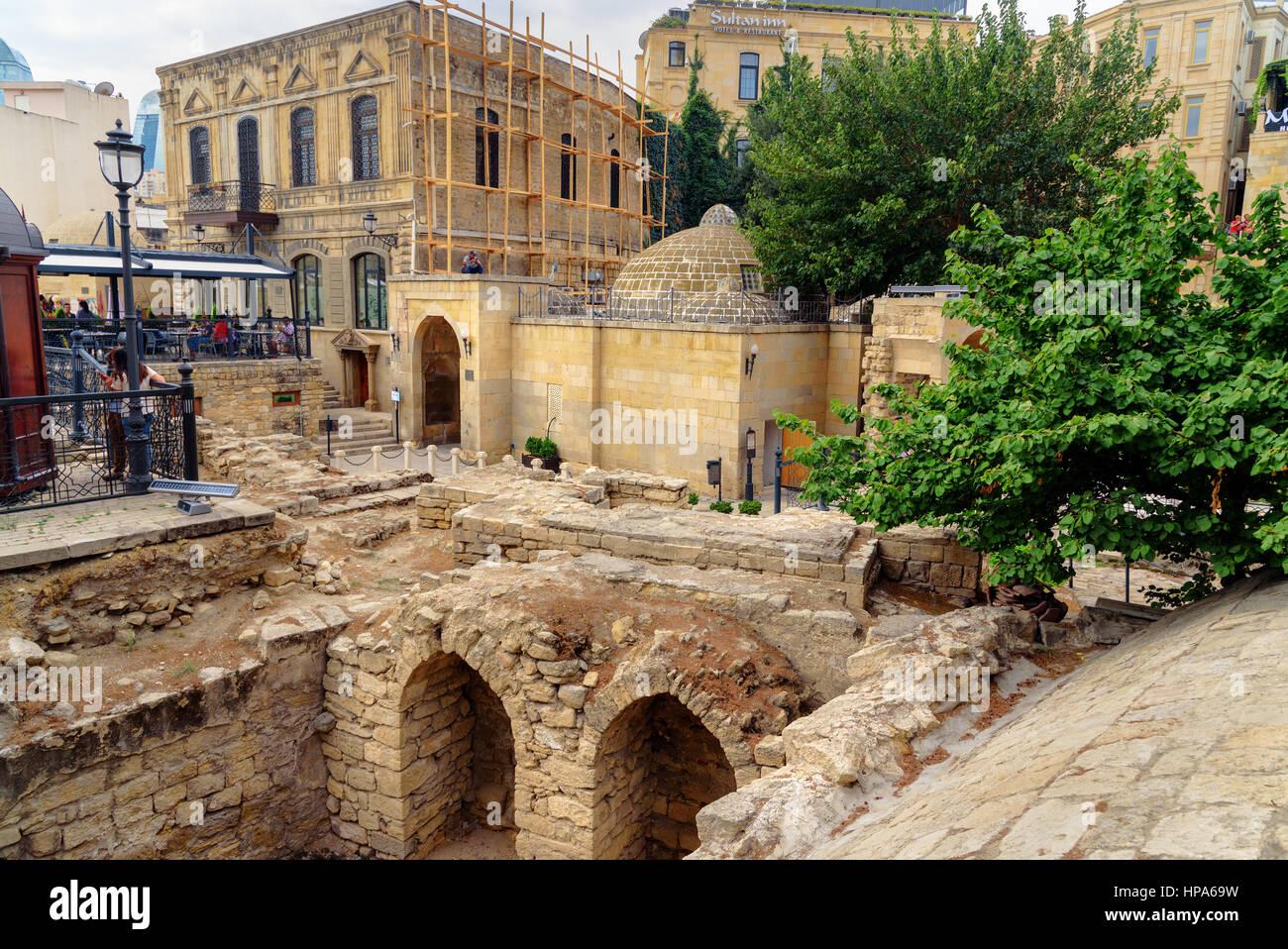 Baku, Azerbaijan - September 10, 2016: Remains of the Church of St Batholomew in Old city, Icheri Sheher is the - Stock Image