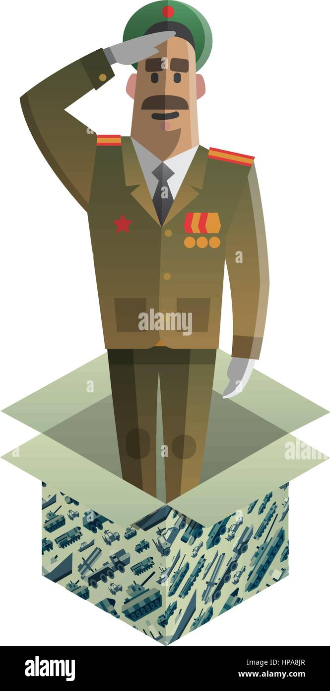 Isometric gift for day of defenders of fatherland. - Stock Vector