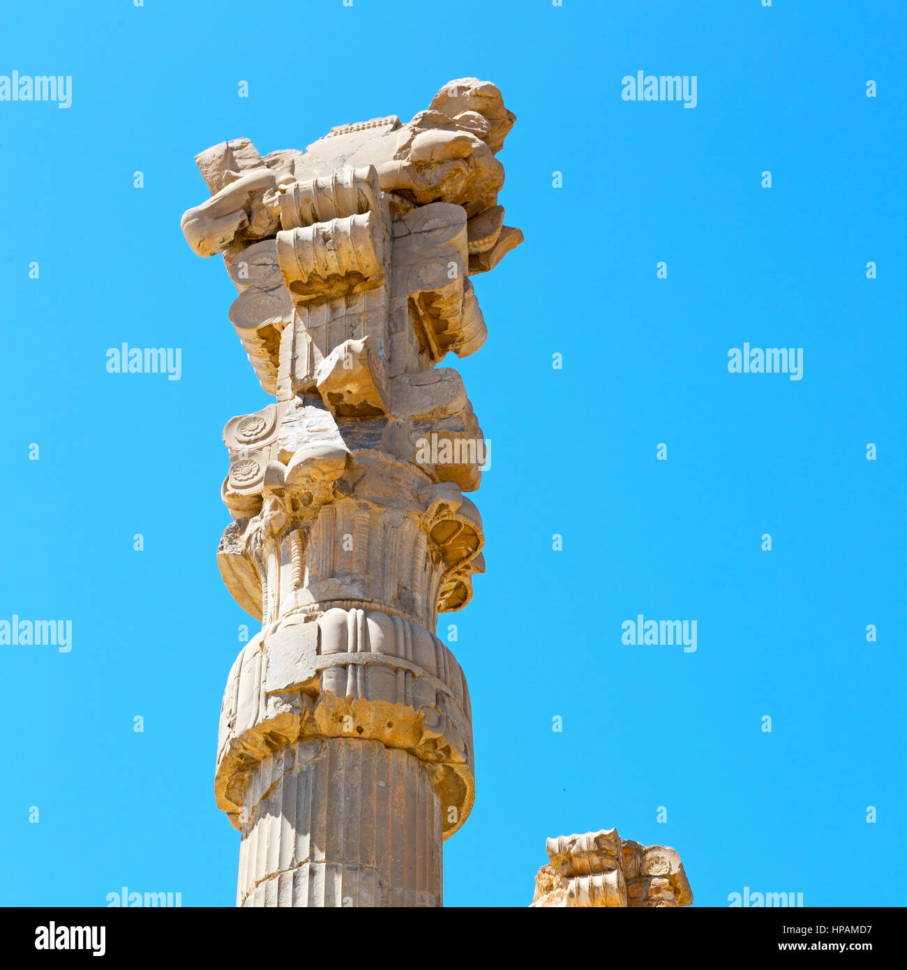 Blur In Iran Persepolis The Old Ruins Historical Destination Stock Photo Alamy