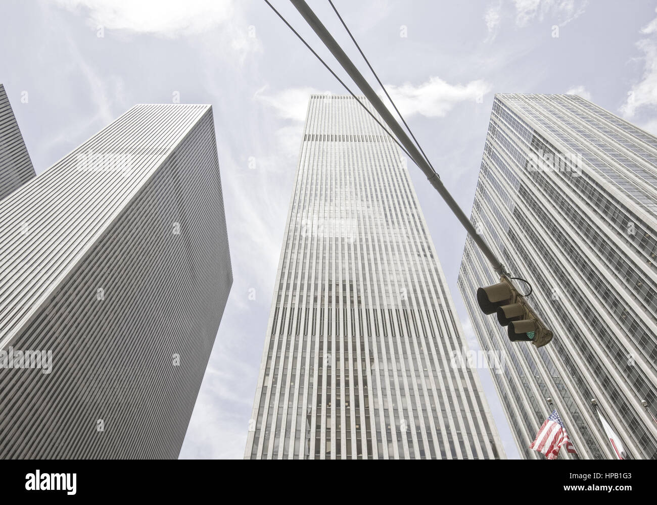 Wolkenkratzer in New York, USA - Stock Image
