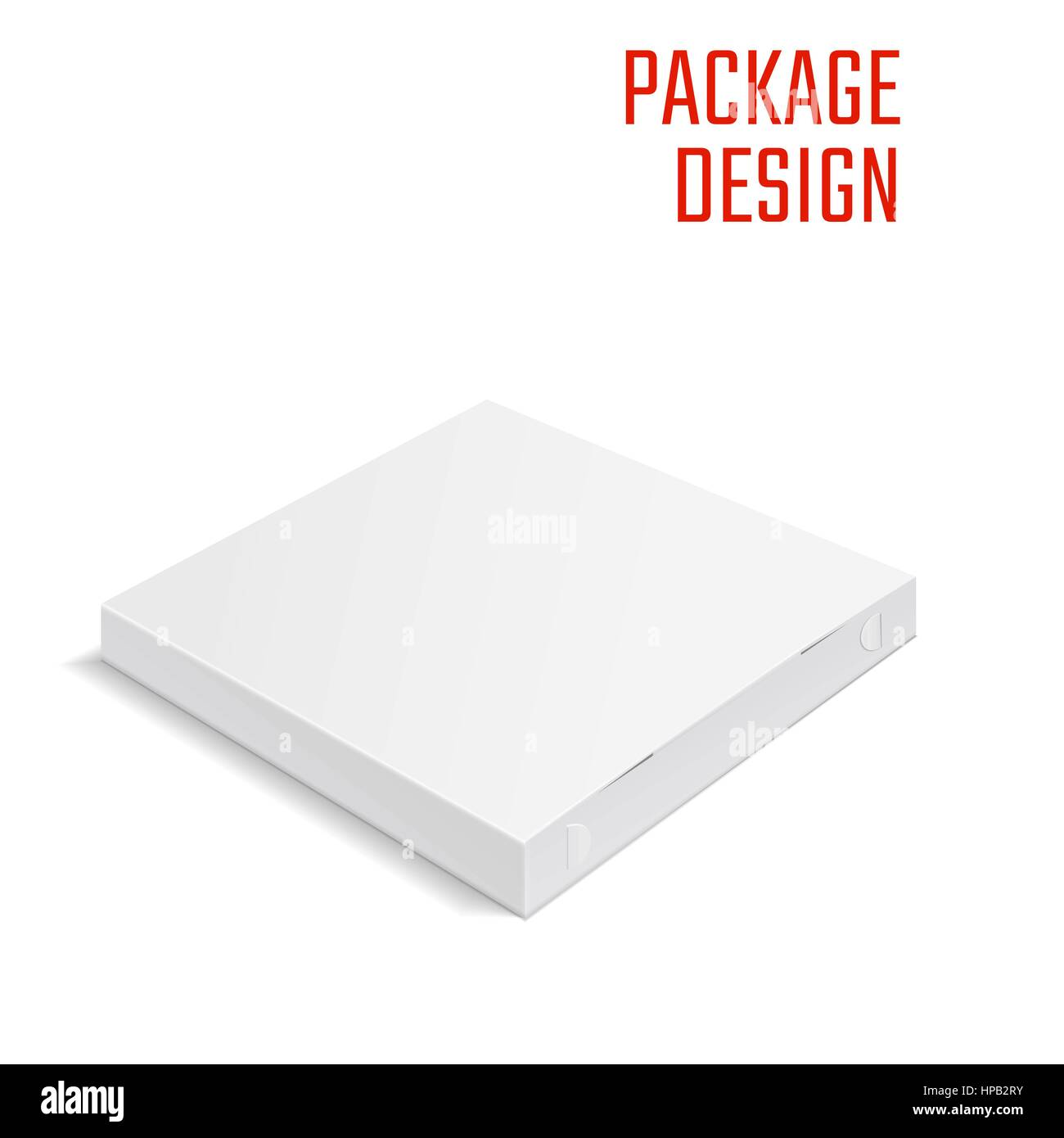 Pizza Package Box 1 - Stock Vector