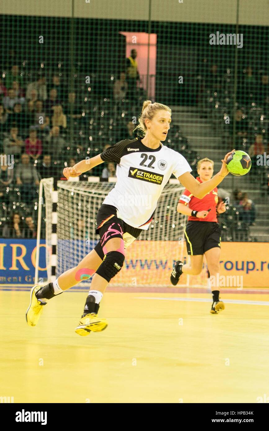 March 20, 2015: Susan Muller #22 of Germany National Team   in action during the women's Carpathian Trophy handball - Stock Image