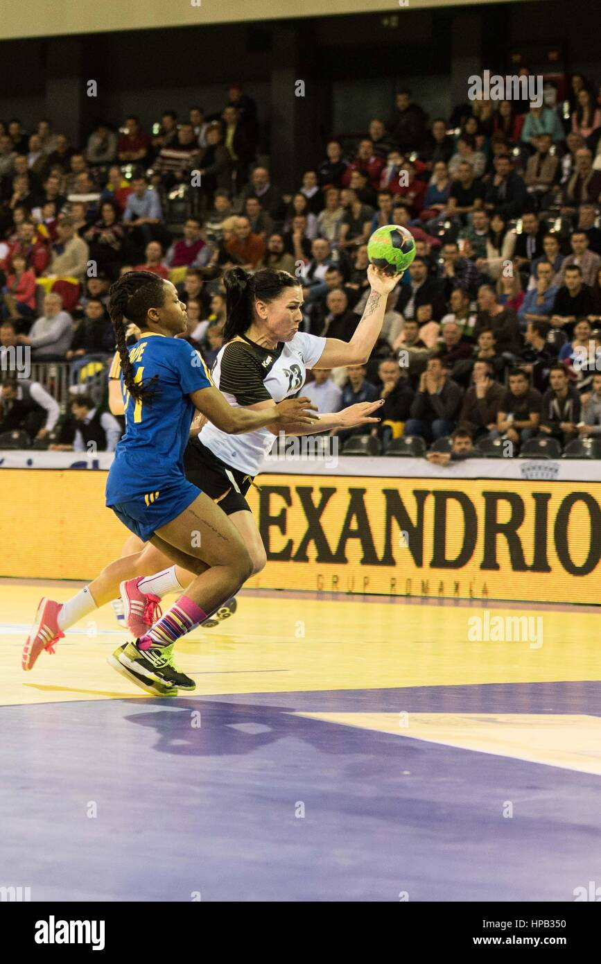 March 20, 2015: Svenja Huber #23 of Germany National Team  and Dafe Edijana #21 of Sweden National Team  in action - Stock Image