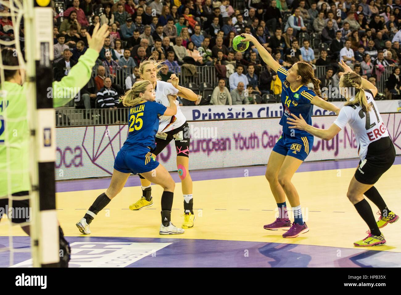March 20, 2015: Worez Nina #27, Susan Muller #22 of Germany National Team, Wallen Angelica #25  and Weteberg Johanna - Stock Image