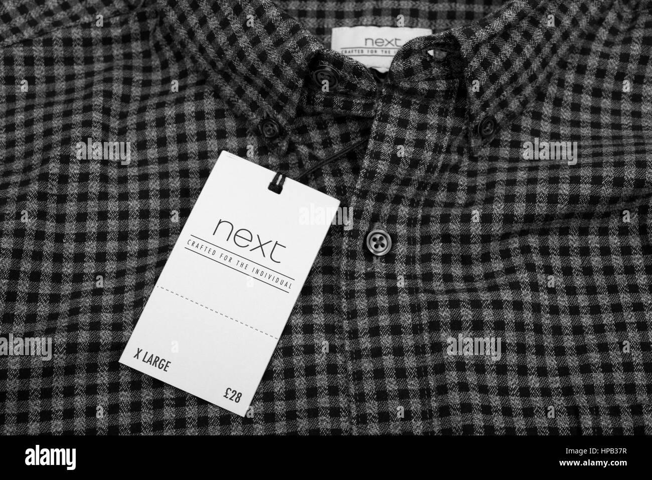 Next mens shirt - Stock Image