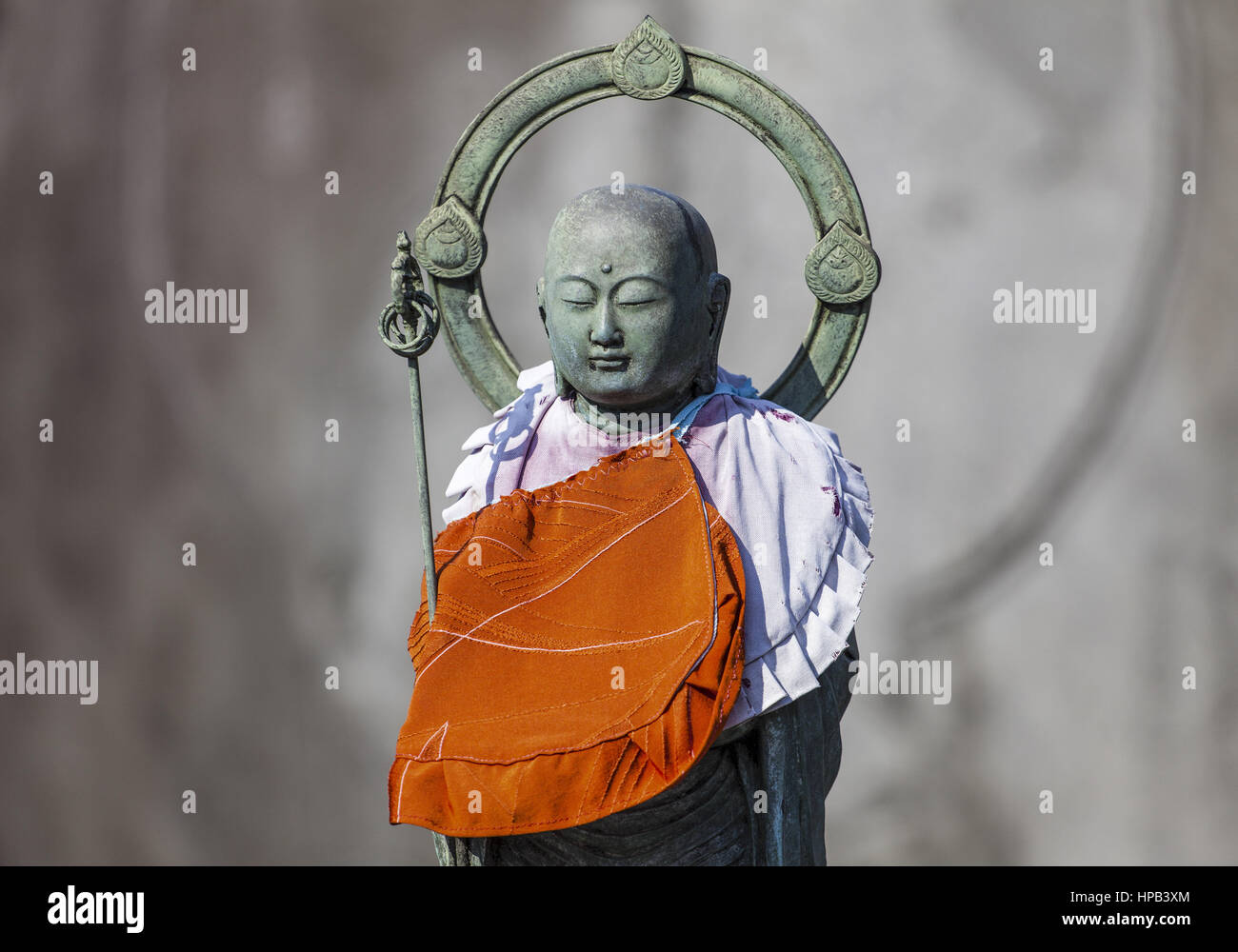 Buddhistisches Symbol, Tokio, Japan - Stock Image