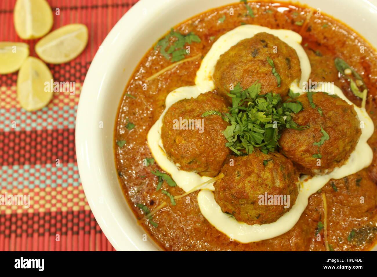 Kofta Curry - Stock Image