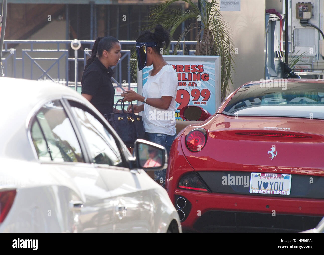 Car wash in los angeles stock photos car wash in los angeles stock v stiviano the former mistress of donald sterling walking around a car wash solutioingenieria Gallery