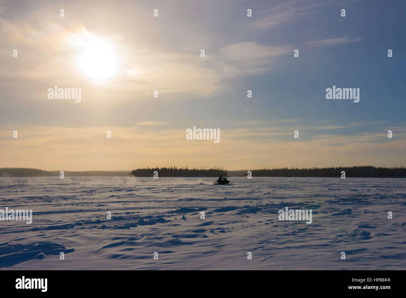 Snowmobile Northern Quebec - Stock Image