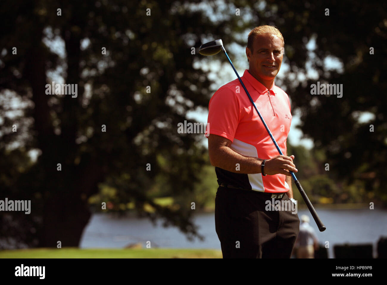 Lee Sharpe charity golf day at Mere Golf and Country Club.  Clayton Blackmore. Picture: Chris Bull - Stock Image