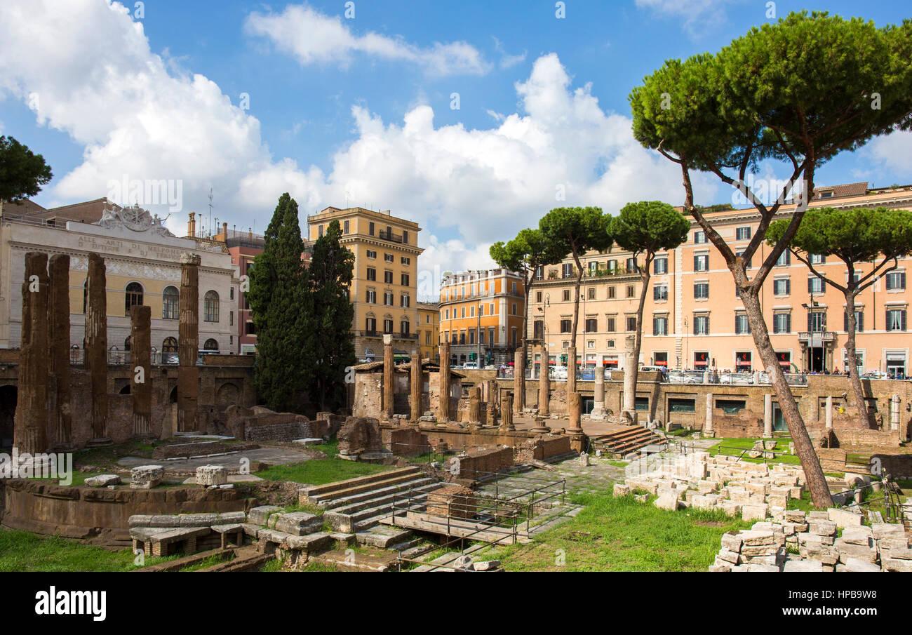 Largo di Torre Argentina, Rome, Lazio, Italy, Europe - Stock Image