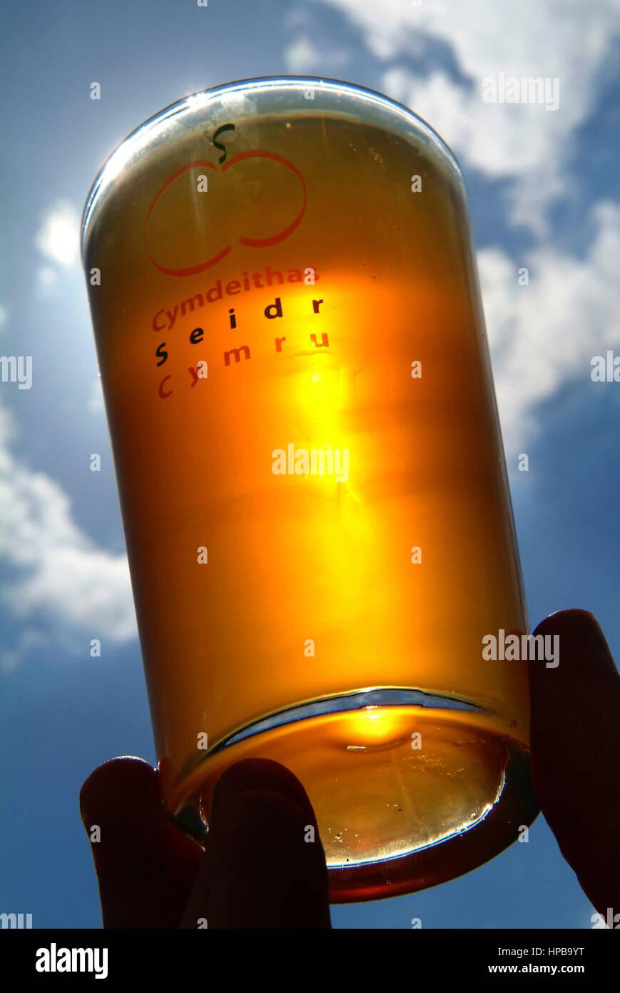 Welsh cider, Cymru seidr - Stock Image