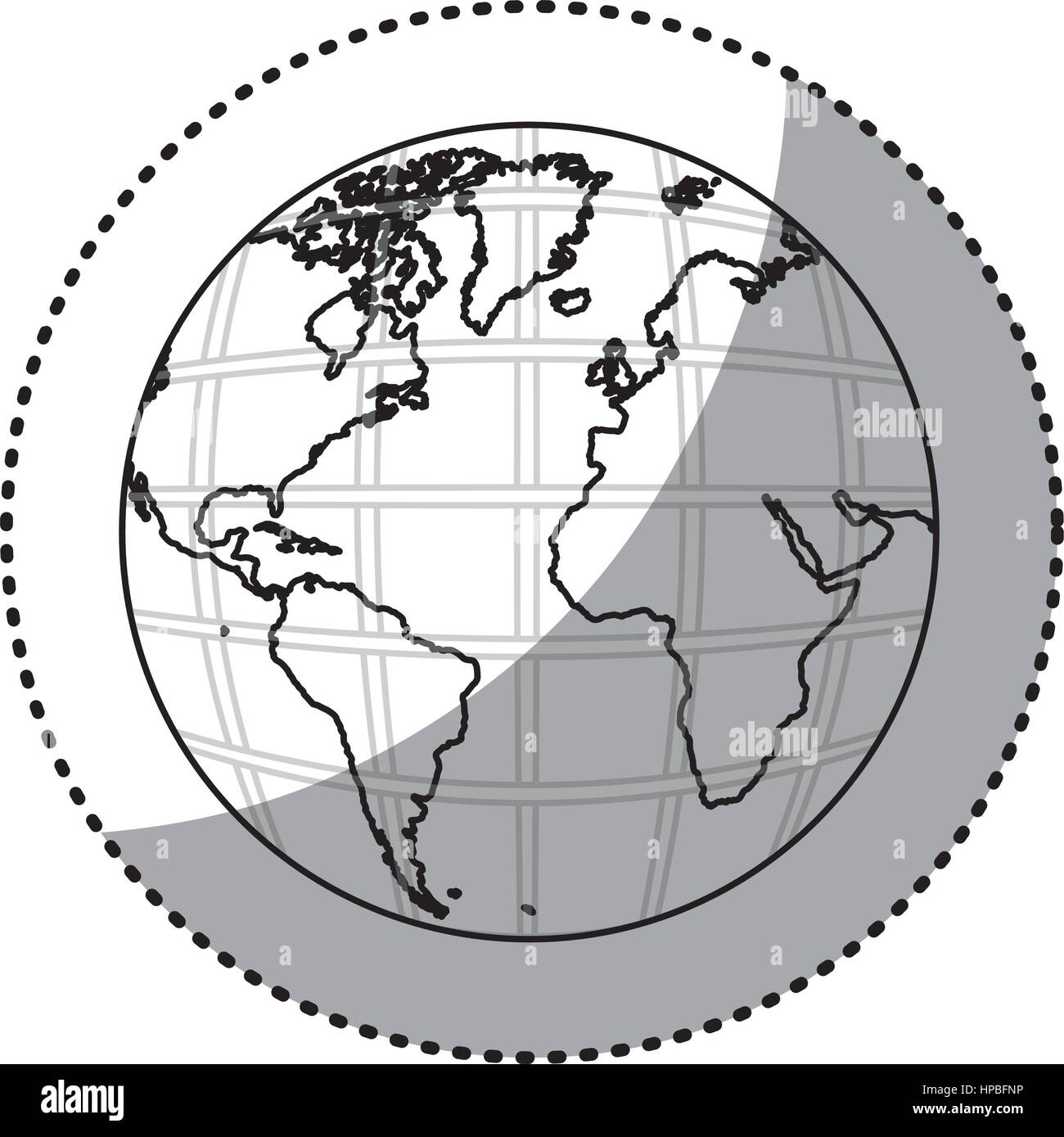 Sticker silhouette earth world map with continents in 3d stock sticker silhouette earth world map with continents in 3d gumiabroncs Images