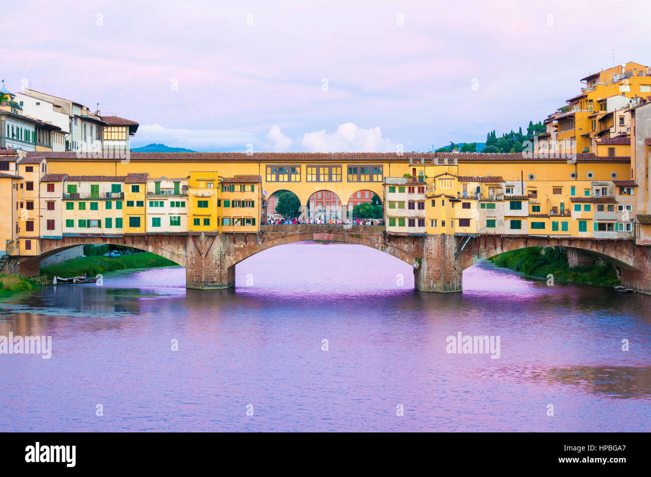 Ponte Vecchio in Florence, Italy - Stock Image