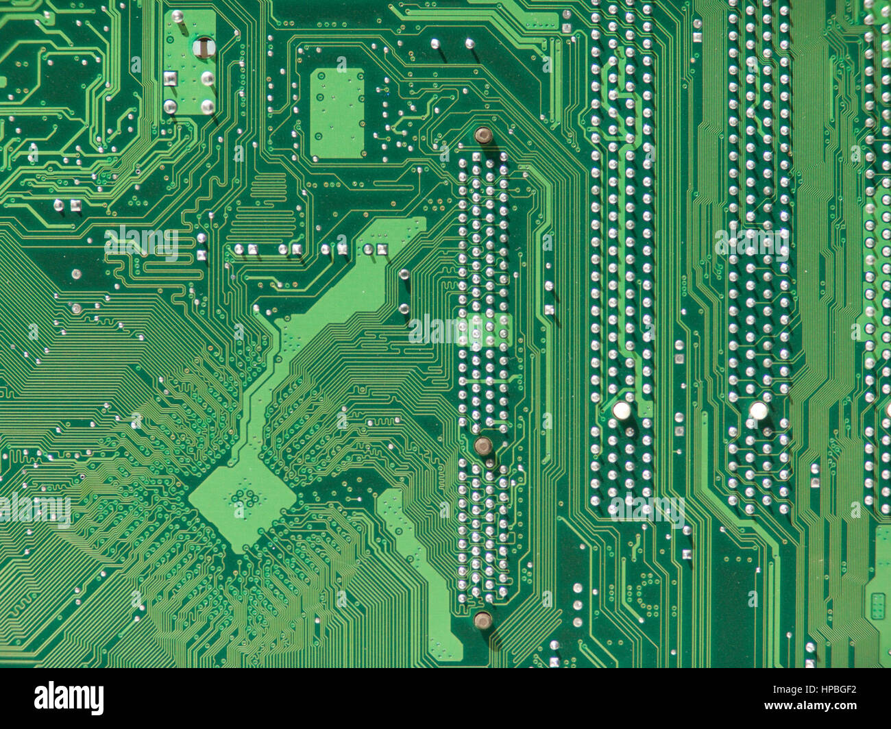 Mainboard for a personal computer. An electronic device for storing and processing data. - Stock Image