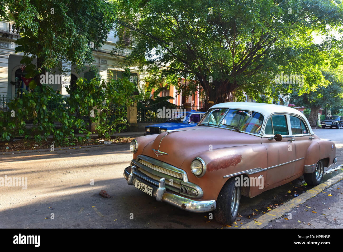 Old car Vedado Havana - Stock Image