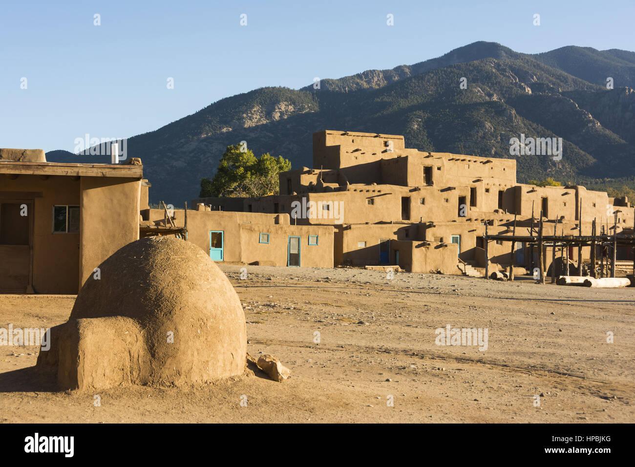 New Mexico, Taos, Taos Pueblo - Stock Image