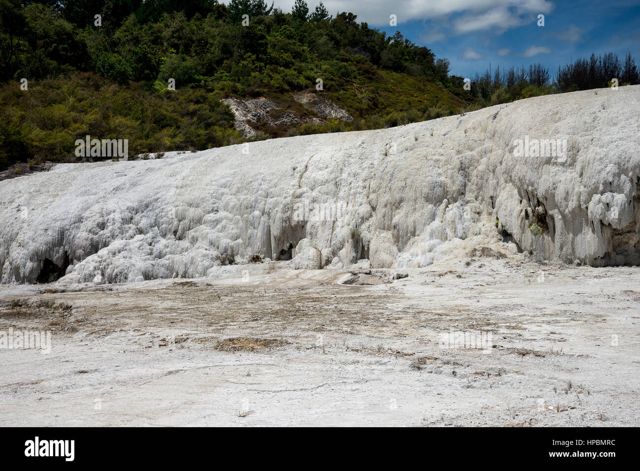 Scenic silica formation in Orakei Korako geothermal park and Hidden Valley, New Zealand, North Island Stock Photo