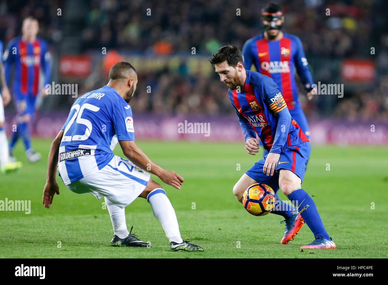 February 19, 2017:  during the match between FC Barcelona vs Leganes, for the round 21 of the Liga Santander, played - Stock Image