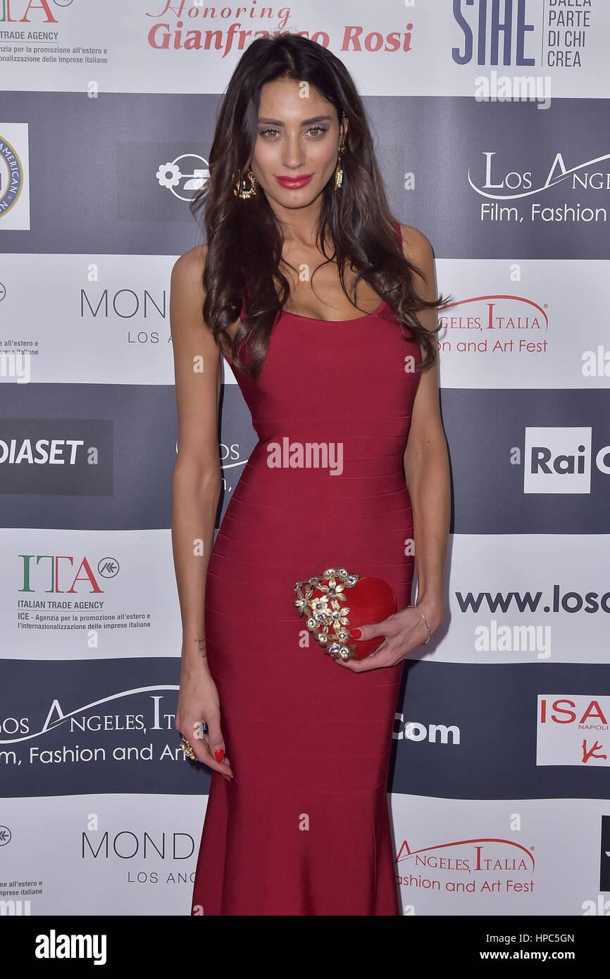 Hollywood, California. 19th Feb, 2017. Giulia Lupetti attends the 12th Edition of The Los Angeles Italia Film, Fashion Stock Photo