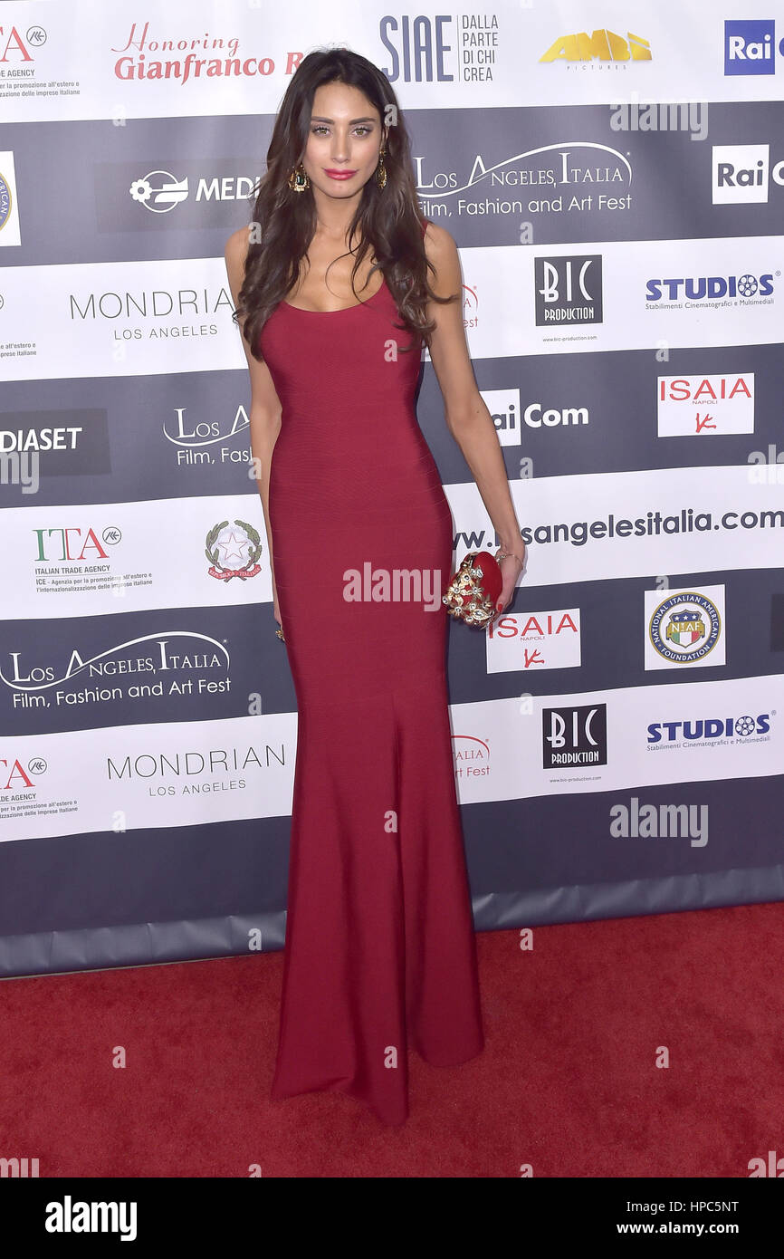Hollywood, California. 19th Feb, 2017. Giulia Lupetti attends the 12th Edition of The Los Angeles Italia Film, Fashion and Art Fest at TCL Chinese 6 Theatres on February 19, 2017 in Hollywood, California. | Verwendung weltweit Credit: dpa/Alamy Live News Stock Photo