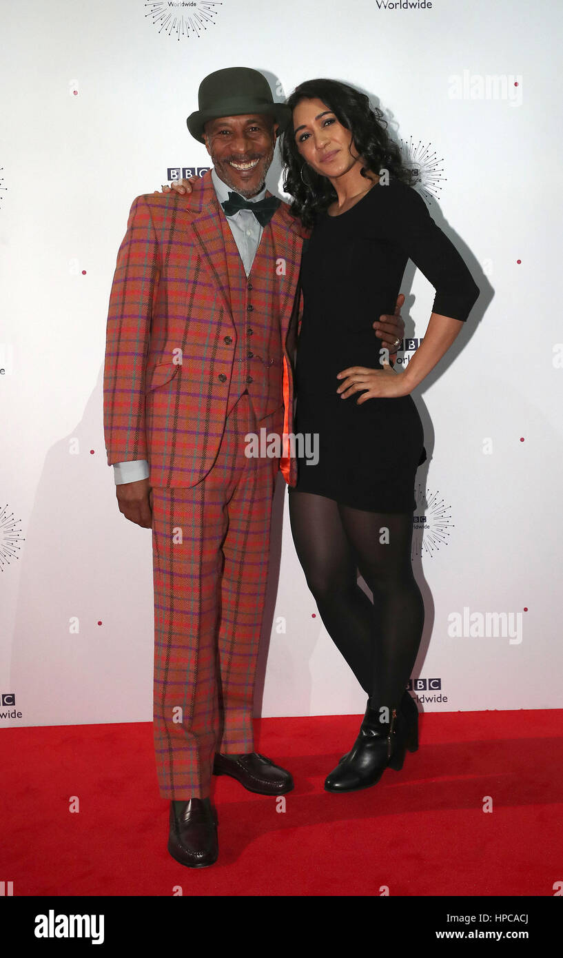 Danny John-Jules and Josephine Jobert attend the showcase gala for BBC Worldwide in at the ACC Liverpool. - Stock Image