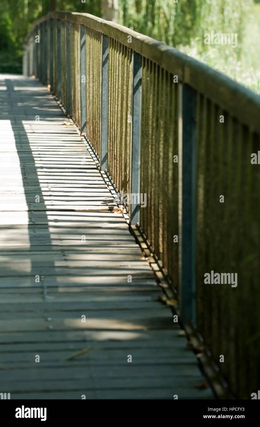Holzbruecke - bridge - Stock Image