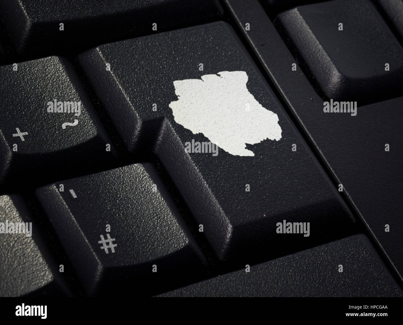 Return key in the shape of Suriname.(series) - Stock Image