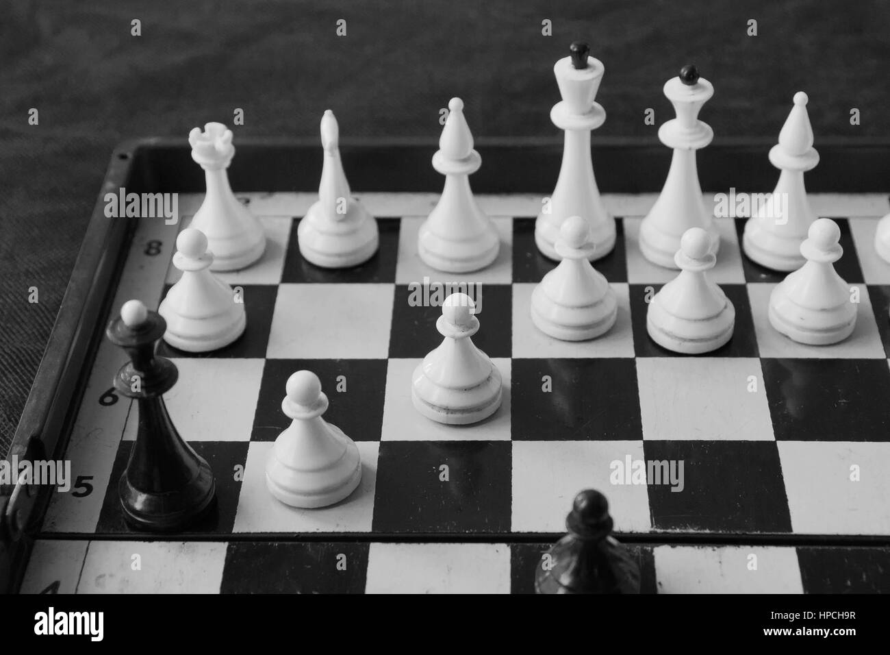 The game of chess. The combination of children's math. - Stock Image