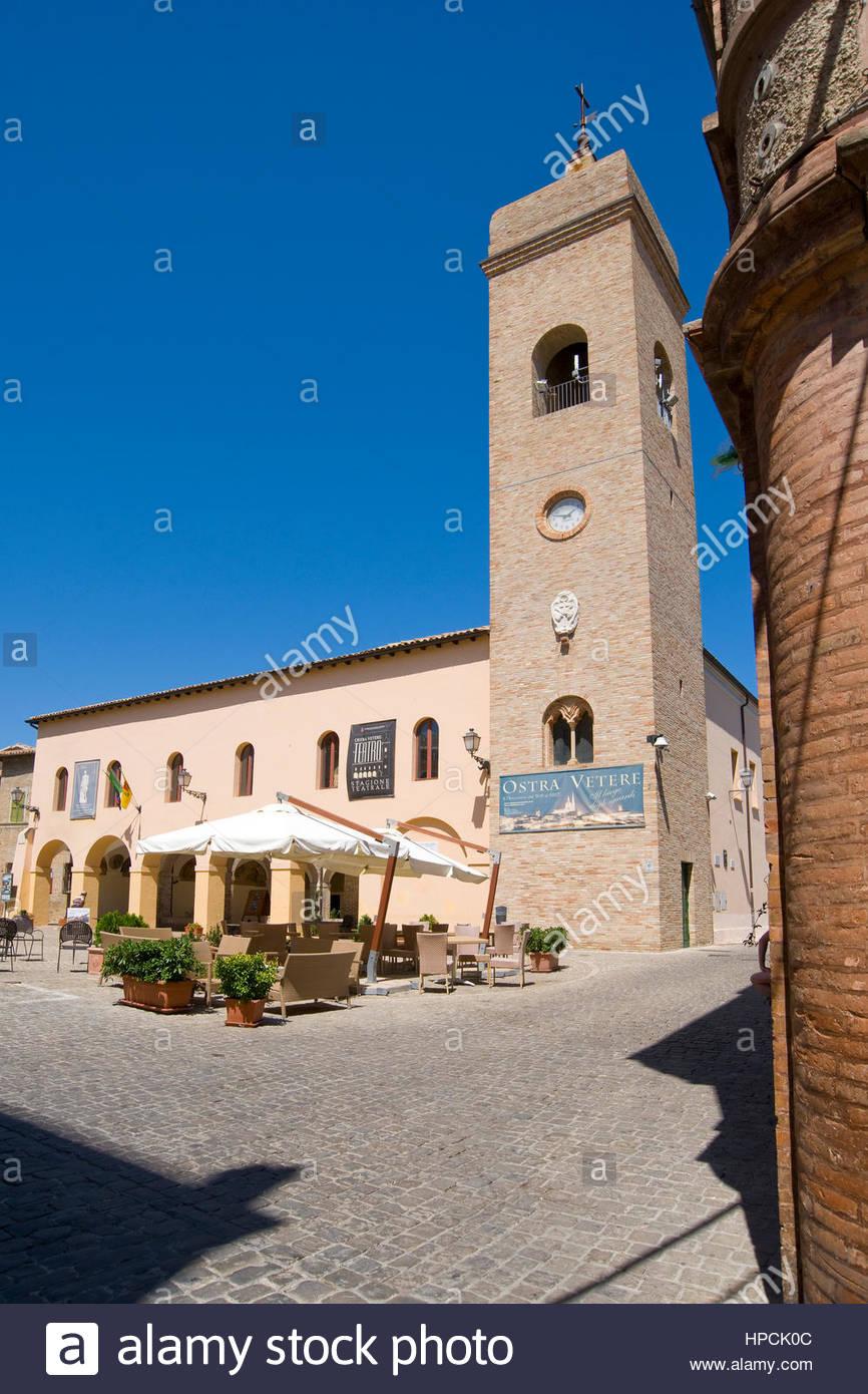 piazza della libertà,ostra vetere,italy - Stock Image