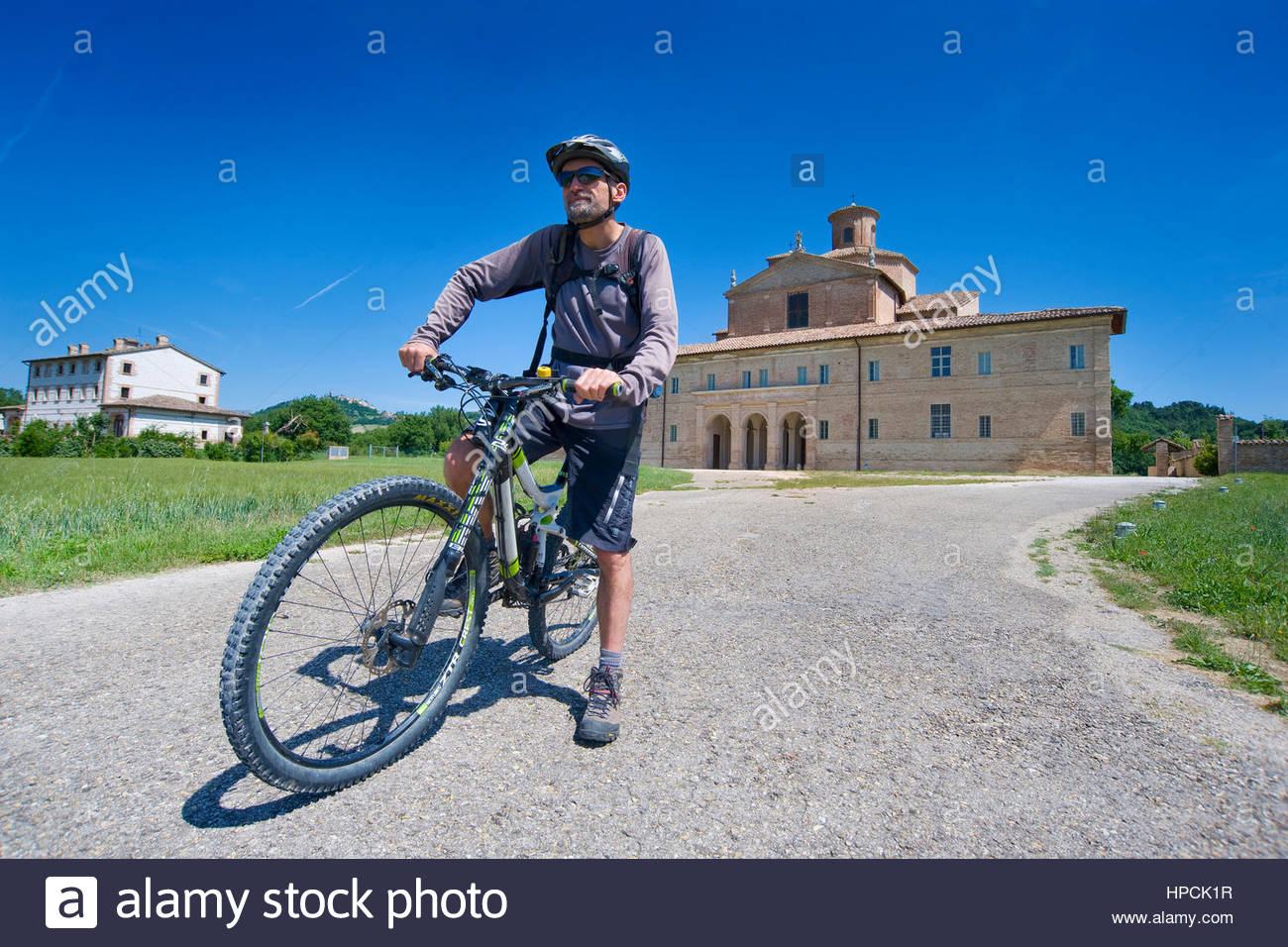 mountain bike tour,barco ducale,urbania,marche,Italy Stock Photo