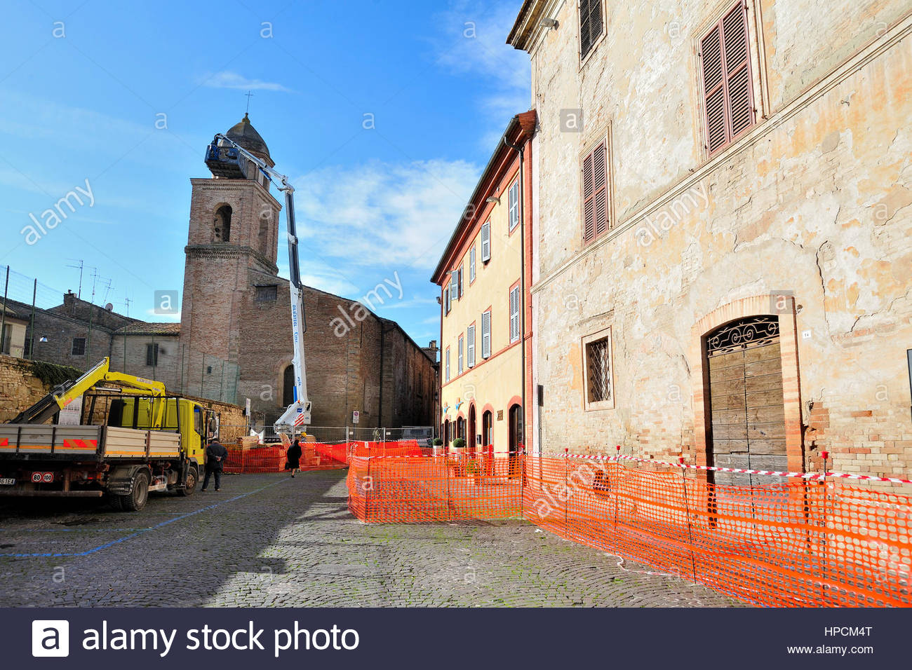 mass in security of the bell tower of St  James Church after the