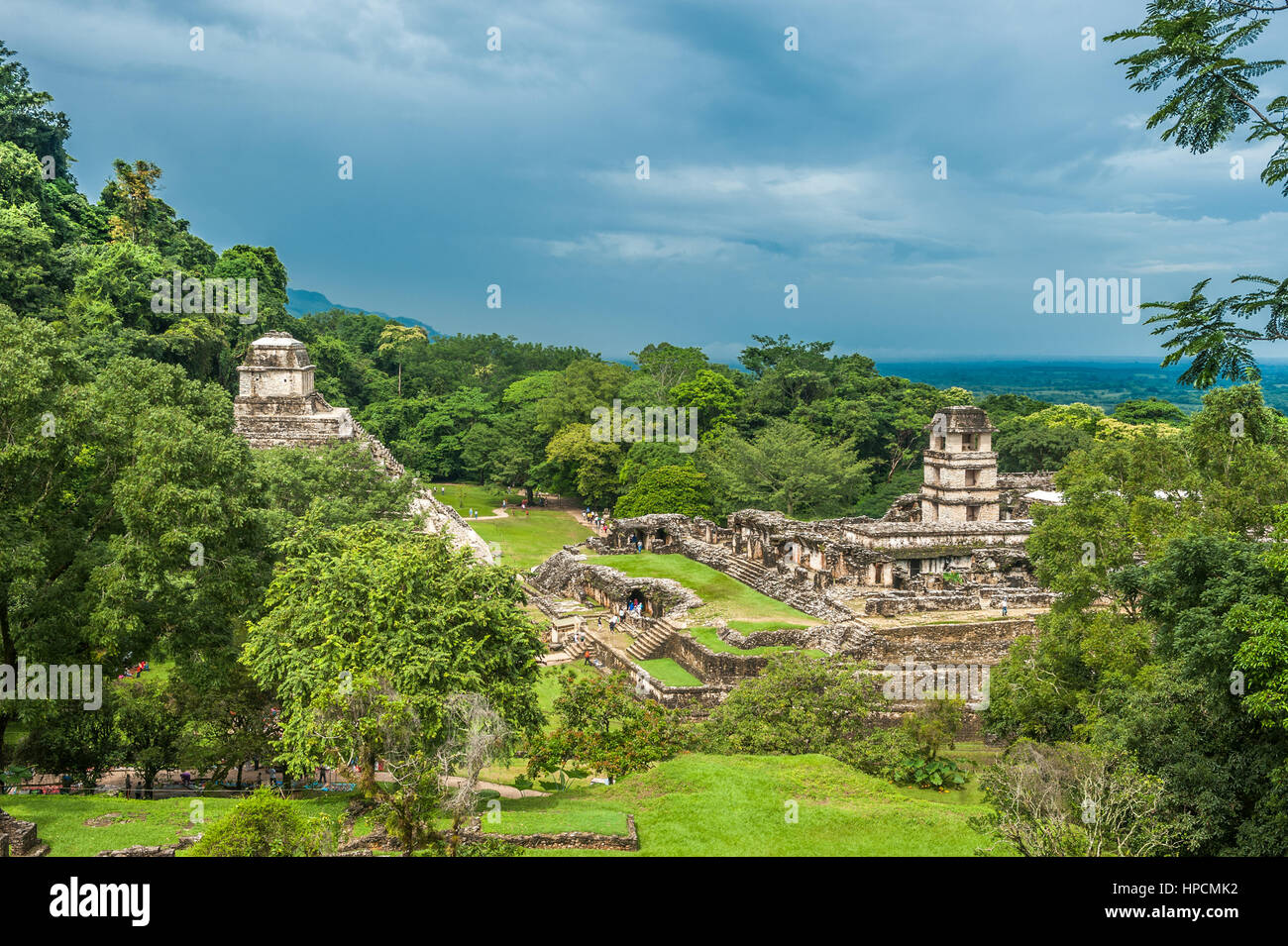 Ruins of Palenque, Mexico - Stock Image