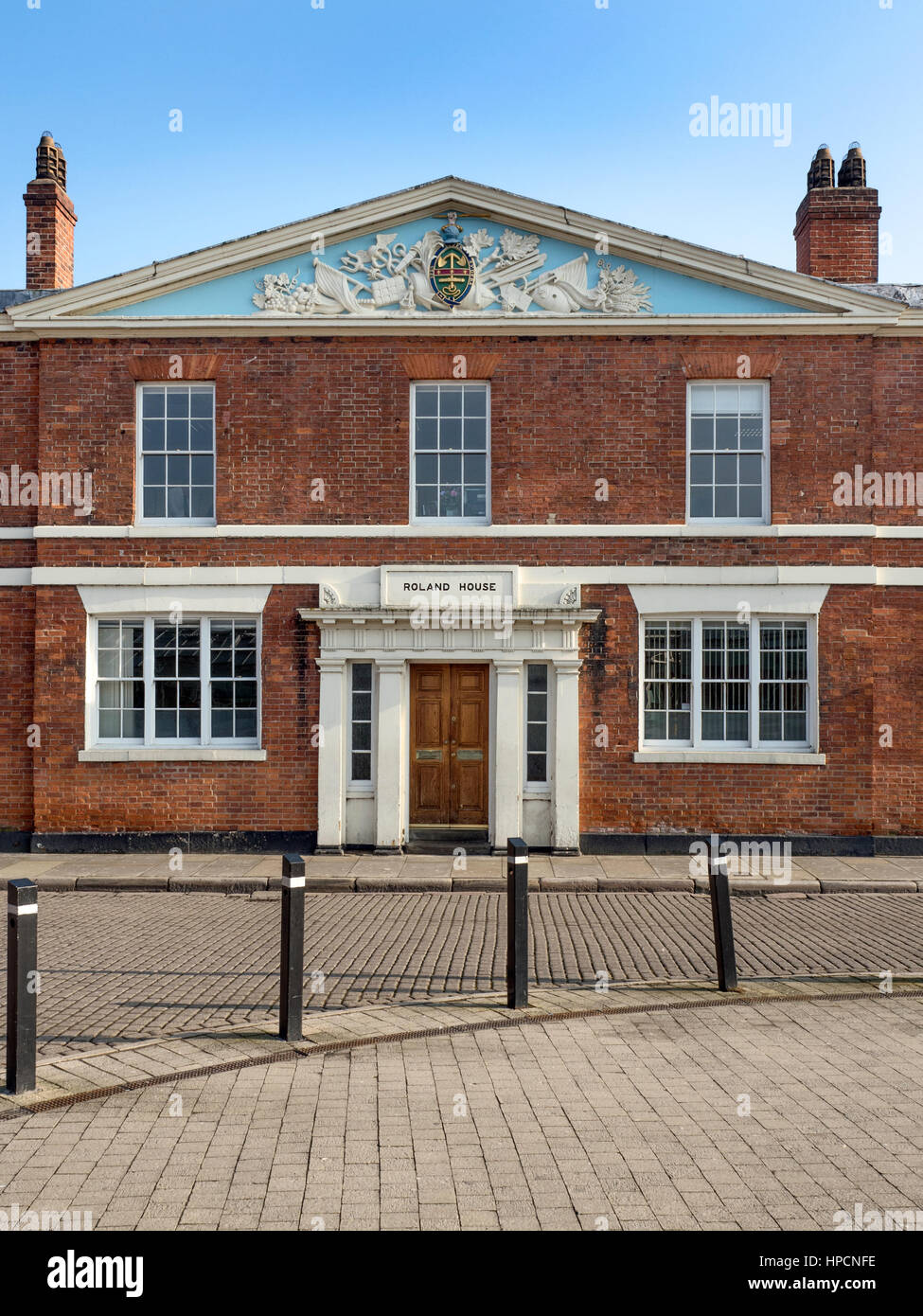 Roland House former Ferres Hospital Almshouses now offices on Princes Dock Street Hull Yorkshire England - Stock Image