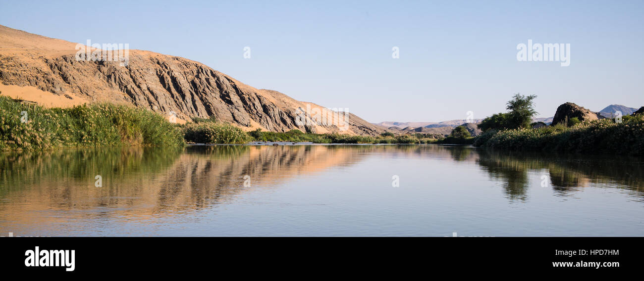 The Kunene River, Northern Namibia - Stock Image