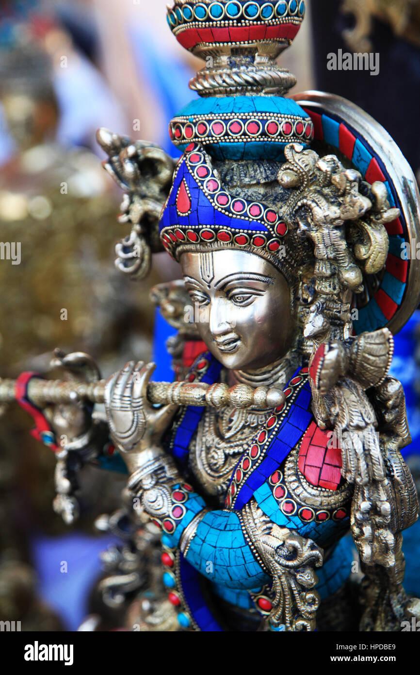 sri krishna statue brass photo copyright by saji maramon stock
