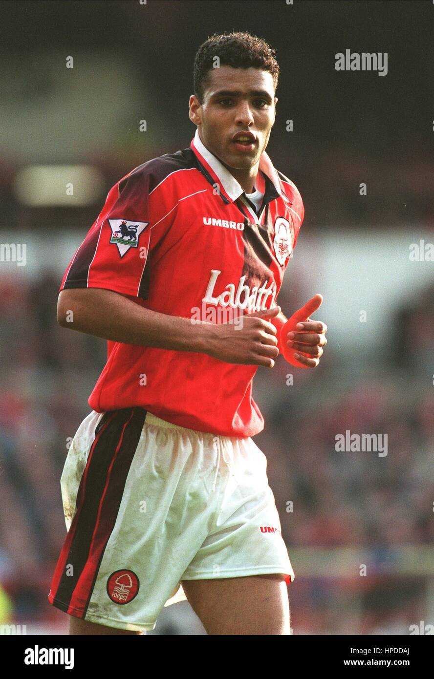 PIERRE VAN HOOIJDONK NOTTINGHAM FOREST FC 15 March 1997 - Stock Image 1aca12d962a80
