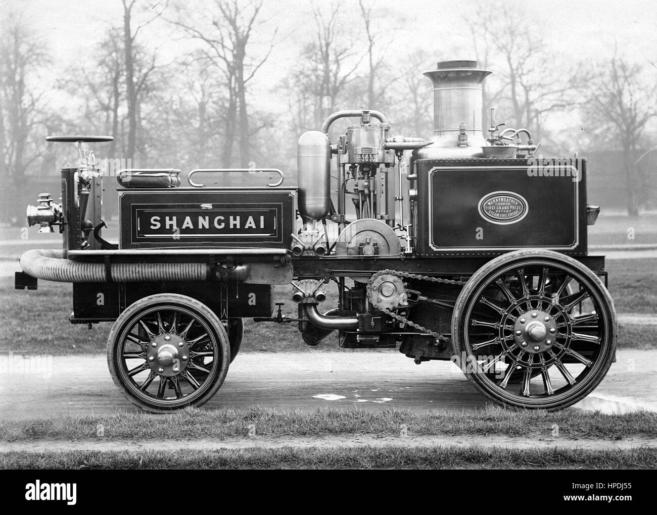 Merryweather fire engine steam 1904 - Stock Image